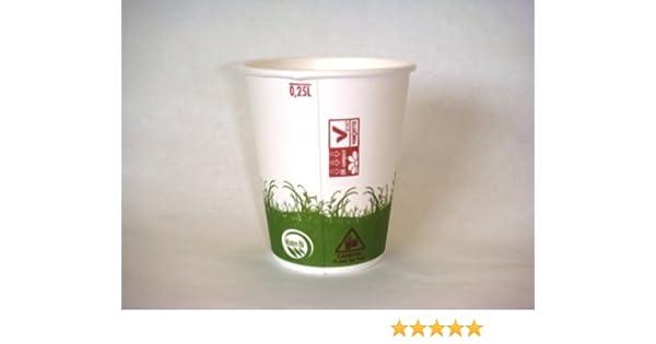 Vaso Biodegradable desechable 25 cl por 40: Amazon.es: Hogar