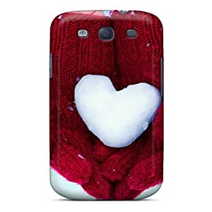 Tough Galaxy WQP2917mbWg Case Cover/ Case For Galaxy S3(snow Heart)