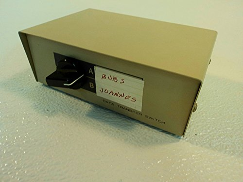 Standard Manual Data Switch Box DB25 2 Port Gray (Manual Switch Box Db25)