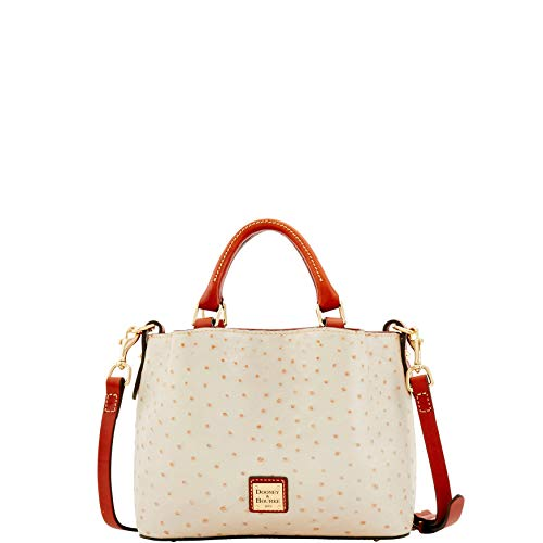 Dooney & Bourke Leather Mini Bag - Dooney & Bourke Ostrich Mini Barlow Top Handle Bag