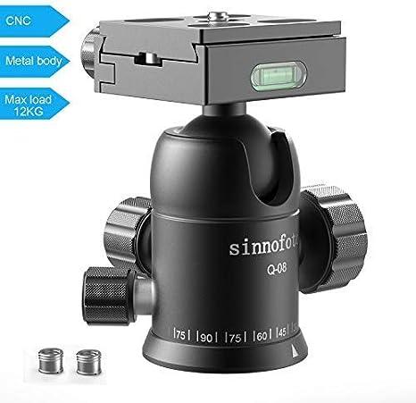 Sinnofoto Q08 trípode de fotografía cámara de Aluminio Cabezal de ...