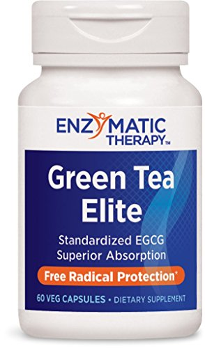 Enzymatic Therapy Green Tea Elite with EGCG Vegetarian Capsule, 60 Count (Green Tea Therapy)