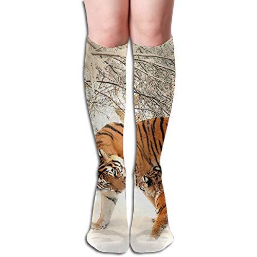 Women Men High Knee Socks 3D Printed Tiger