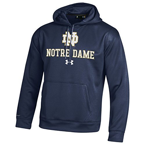 ting Irish Men's Under Armour Fleece Hoodie, Medium, Midnight Navy (Notre Dame Hoodies)