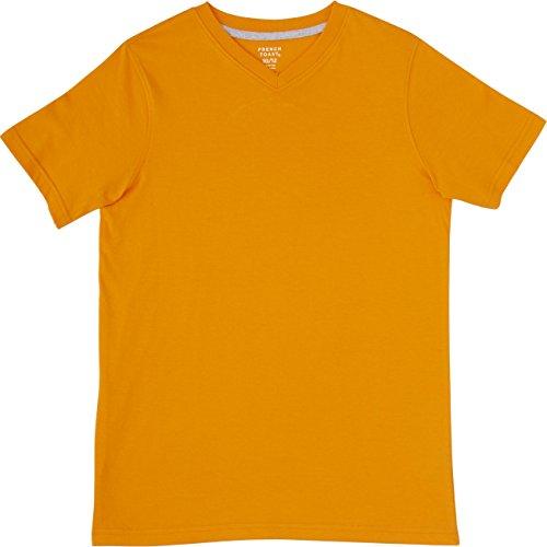 (French Toast School Uniform Boys Short Sleeve V-Neck T-Shirt, Autumn Glory, 18 Months)