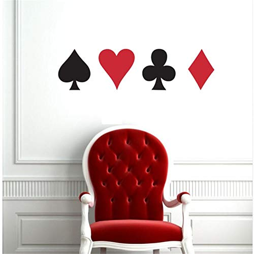 - Wsqyf Large Poker Professional Cards Club Heart Diamond Wall Sticker Suit Play Game Room Night Basement Casino Dealer Dealing Gaming Gold 15Cm Tall