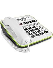 Doro Secure 350 snoergebonden groottasttelefoon met noodoproepalarmgever wit