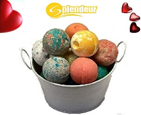 SPLENDEUR Bucket O Luscious Bath Bomb Fizzes(12) wrapped /2