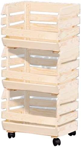 Kesper 69581 Caja de almacenaje Madera Rectangular Pino - Cajas de almacenaje (Caja de almacenaje, Madera, Rectangular, Pino, Monótono, 4 Rueda(s)): Amazon.es: Hogar