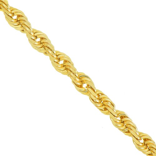 """10K Real Yellow Gold 2.5mm Diamond Cut Sparkle Rope Chain 20"""" Lobster Claw"""