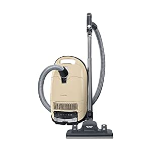 Miele New Complete C3 Alize Canister Vacuum, Ivory White - Corded
