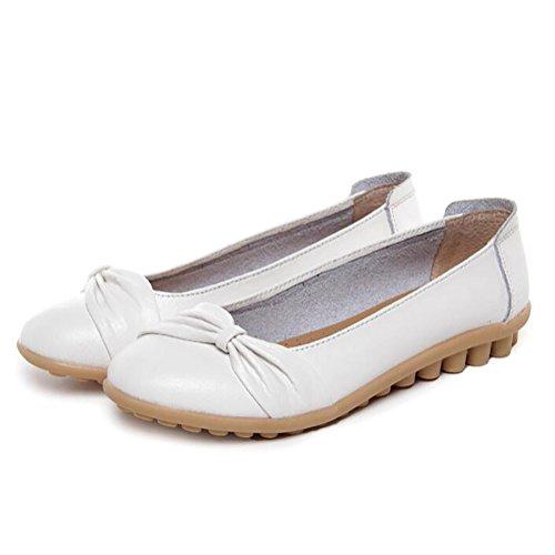UK3 CN35 Mocasines Casual Zapatos Planos US5 5 Respirable 5 EU36 D Arco Cuero D Zapatos Diseño SHANGXIAN Conducción wBaq6gF