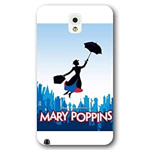 Customized White Hard Plastic Disney Cartoon Mary Poppins Samsung Galaxy Note 3 Case