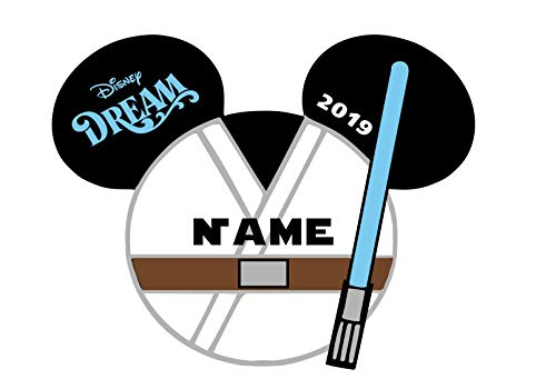 LARGE Personalized Disney Luke Skywalker Star Wars Inspired Magnet for Disney Cruise with your Name -