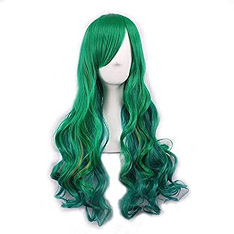 Wig,Baomabao Women Lady Long Hair Wig Curly Wavy Synthetic Anime Cosplay Party (G)
