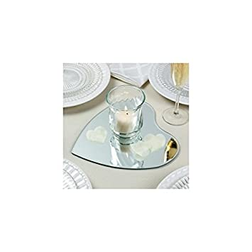 3 Heart Shaped Table Mirrors For Wedding Centerpiece
