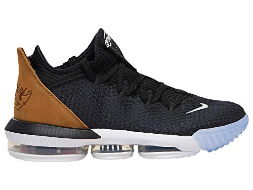 Nike Men's Lebron 16 Low Black/Gold/Wheat Synthetic Basketball Shoes 9 M US ()