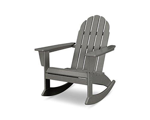 (POLYWOOD Vineyard Adirondack Rocking Chair (Slate Grey))