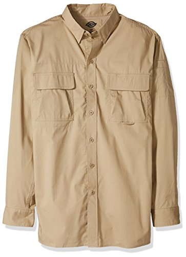 Dickies Men's Big and Tall Long Sleeve Ventilated Ripstop Tactical Shirt, Desert Sand, - Sunglasses Dickies