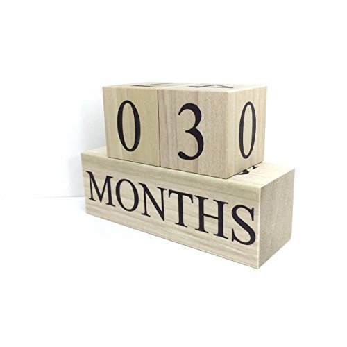 Sweet Sage Studio Wooden Baby Milestone Blocks - 3 Color Styles - Best Baby Age Photo Props, Wooden Age Blocks, Baby Photography Props, Nursery Decor, by
