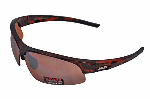 MaxxHD Sun Glasses 2017 Maxx Sunglasses Ray TR90 Tortoise Frame HD Lens
