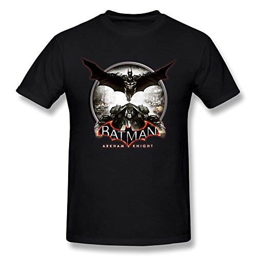 Jasmincc Men's Batman: Arkham Knight Batmobiles Hot Poster T-shirts Black Large