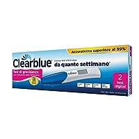 1 x Clearblue Test di gravidanza digitale con indicatore di concepimento - Twin Pack