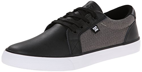 Mix Uk Limited Edition (DC Men's Council Leather Skate Shoe,Grey/Dark Red,13 M US)
