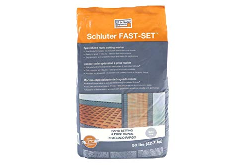(Schluter Systems Fast-Set Modified Thin-Set Mortar - Grey)