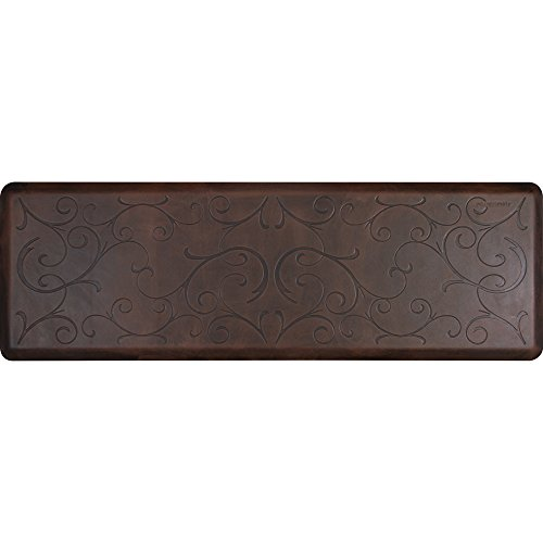 WellnessMats Bella Motif Anti-Fatigue Mat, Antique Dark, 72'' by 24'' by WellnessMats