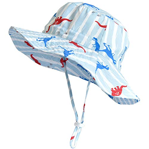 SOMALER Sun Bucket Hats for Kids Boys Girls UV UPF 50+ Sun Protection Hats Wide Brim Summer Play Hats ()