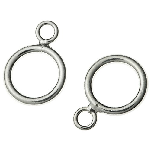 (10pcs 925 Sterling Silver 5mm Closed Double Pendant Link Charm Connector Jump Ring)