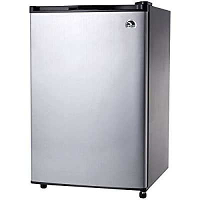 Igloo 4.6 Cubic Feet Low Energy Consumption Stainless Steel Door Modern Compact Refrigerator