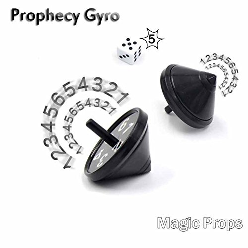 Lamp Spinning Magic (yingyue Plastic Magic Tricks Prop Funny Prediction Spinning Top Kid Gyro Birthday Gift Black)