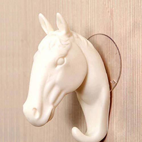 (Wall Shelf with Hooks White- Self-Adhesive Hook Hooks Wall Decoration Resin Home Decoration Pony Hook Wall Jewelry Key Hanger Handbag,D)