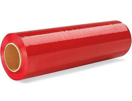 """18""""x 1500 FT Roll - 80 Gauge Thick + Hybrid technology, 4 Pack. Stretch Moving & Packing Wrap. Industrial Strength, Plastic Pallet Shrink Film Ideal For Furniture, Boxes, Pallets… (RED) from Sigma-Supply Package"""