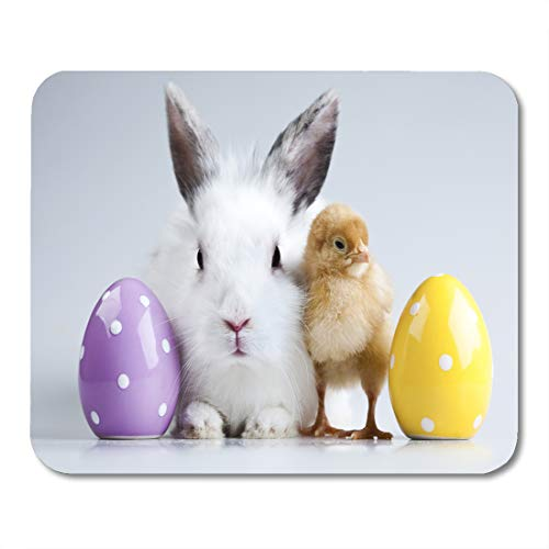 reen Rabbit Easter Bunny on Chick Funny Egg Table Baby Chicken Mouse pad 9.5