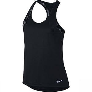 NIKE Women's Running Tank (Black, L)