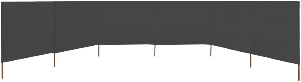 Goliraya Paravent Pliable 9 Panneaux Tissu Durable et Solide 1200 x 120 cm Anthracite