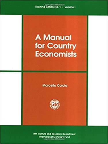 Book A Manual for Country Economists (Training Series, No 1)