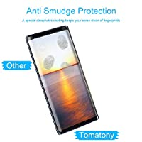 Eastoan Samsung Galaxy Note 9 Screen Protector [9H Hardness][Anti-Scratch][Anti-Bubble][3D Curved] [High Definition] Tempered Glass Screen Protector Compatible Samsung Galaxy Note 9 Black by Eastoan