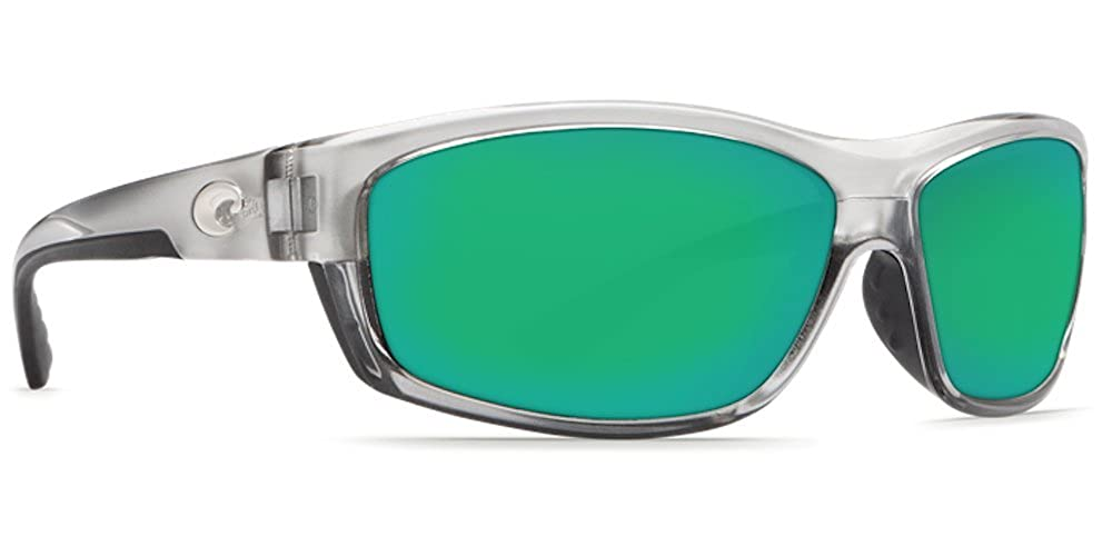63343e64b4c Amazon.com  Costa Del Mar Saltbreak 580G Polarized Sunglasses in Silver    Green Mirror Lens  Clothing