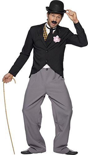 Smiffy's Men's 1920's Star Costume with Jacket Trousers Mock Waistcoat and Tie, Multi, Medium