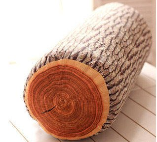 JustNile Ultra Soft 3D Wood Log Decorative Throw Pillow | Sleeping Cushion for Bed Sofa Office Chair Car Seat Armrest| Home& Travel | Natural Creative Design| Made for Superior Comfort | Rustic Cabin Décor -