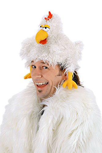 UHC Chicken Clucker Rooster Bird Furry Hat Funny Theme Party Costume Accessory (Adult Rooster Costume)