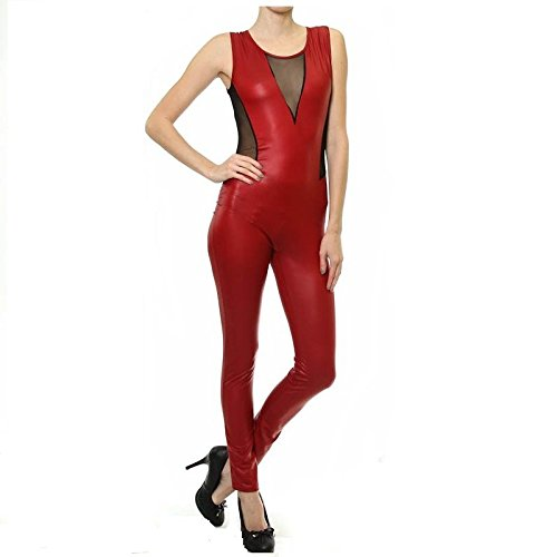 Amazon.com  Prima DND Pepper Red Metallic Bodysuit  Clothing 22d62a3a0