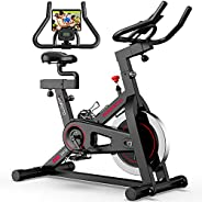 JOROTO Magnetic Exercise Bike Stationary - Belt Drive Indoor Cycling Bikes Workout Cycle for Home (Suitable In