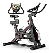 JOROTO Magnetic Exercise Bike Stationary - Belt Drive Indoor Cycling Bikes Trainer Workout Cycle ...