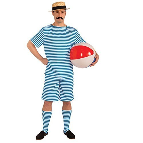 Beachside Clyde Adult Costumes (Roaring 20's Beachside Clyde Adult Costume, Multi-Colored, Medium by Bristol Novelties)