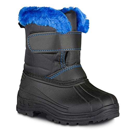 Chillipop Colored Insulated Snow Boots for Boys, Girls, Little Kids, Size 11, Blue